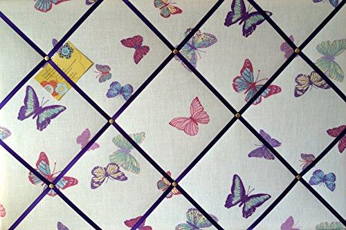 Laura Ashley Pinnwand, aus Stoff, mit Schmetterlingsmotiv, handgemacht, groß