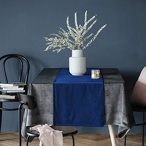 CCRoom Tischläufer Marineblau aus Samt 30x180cm, Tischdekoration Läufer Tuch für die Küche Kaffee Esstisch Schützen Sideboard