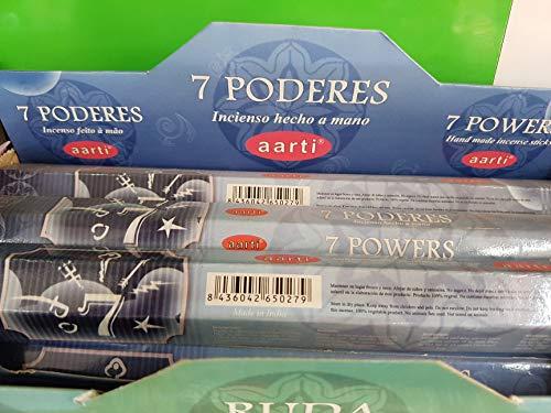Qaromas Incienso aarti 7 Poderes / 7 Powers 6 x 20sticks
