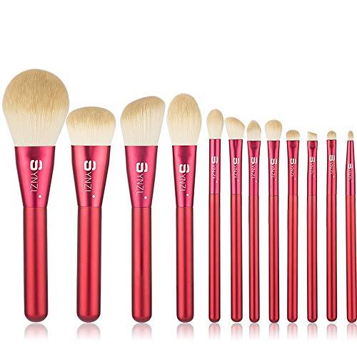 Pinceau De Maquillage Fondation Eyeliner Ombre à PaupièRes Sac De Maquillage Beauté Outil De Maquillage 12 PièCe Ensemble Pour Les DéButants