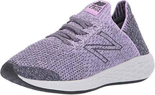 New Balance Women's Cruz Sock Fit V2 Fresh Foam Running Shoe, Dark Violet/Thunder/Arctic Fox, 11 B US