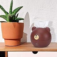 丸みを帯びたエッジとコーナーティッシュボックスオフィス寝室用抽出ペーパータオル用リビングルーム(brown)