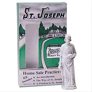 Design Toscano St. Joseph Home Sale Statue Kit, 3 Inch, Plastic, Antique Stone