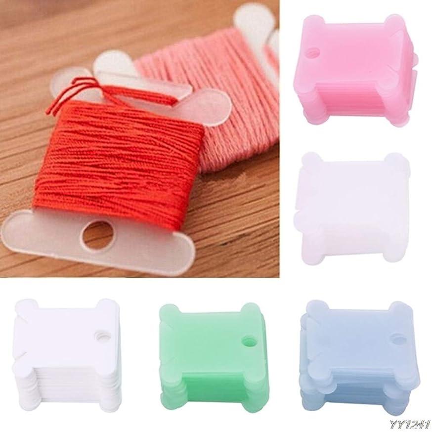 50 Pcs Plastic Embroidery Floss Bobbins Card Floss Bobbins Thread Organiser Storage Holder