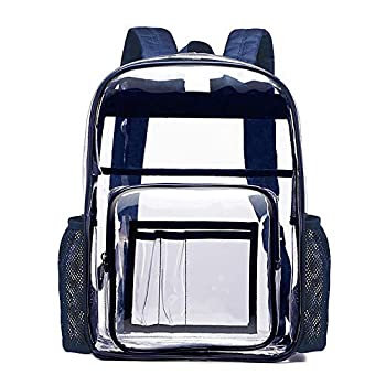 Clear Backpack,Heavy-Duty High-End Super Transparent Backpack Environmental Protection Waterproof Transparent Large School Bag PVC Plastic Backpack Backpack Plastic Backpack Safety Travel Bag Sports Events-Transparent Backpacks
