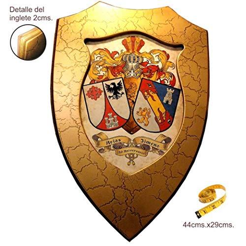 Metopa escudos heráldicos de 2 apellidos