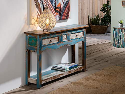 Schuller - Recibidores Vintage - Consola Bali Azul (115x30x76)