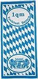 Frottier Handtuch, Motiv: Freistaat Bayern, 50 x 100cm, mit Wappen und Rauten, blau weiss, Frottee...