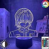 KangYD Figura de Kurapika de Anime Luz de noche 3D, lámpara de ilusión óptica LED, E - Base para despertador (7 colores), Lámpara de escritorio, Decoración del bar