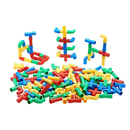 ECR4Kids Totally Tubular Pipes & Spout Math Manipulatives Building Kit (80 Piece)