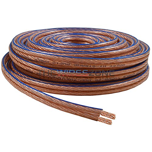 The Wires Zone SWC10-100 10 Gauge Car Home Audio Speaker Wire 10/2 AWG (100 feet)