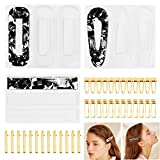 39 PCS Resin Molds and Hair Clips Jewelry Making Accessories Sets, Silicone Casting Tools for Epoxy Resin Art,...