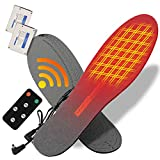 sticro Heated Insoles Winter Electric Rechargeable, Wireless Remote Controller & 4 Heating Settings Thermal Insoles for Men and Women