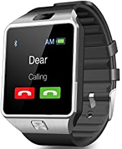 CNPGD U.S. Office Extended Warranty Smartwatch + Unlocked Watch Cell Phone All in 1 Bluetooth Watch for iPhone Android Samsung Galaxy Note/Nexus/HTC/Sony, D-Silver