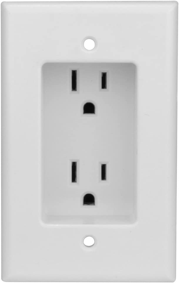 Construct Clearance SALE! Limited time! Pro Single Gang Free shipping anywhere in the nation Recessed Outlet Dual Power listed UL