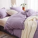 3 Pieces Purple Bedding Lavender Purple Duvet Cover Set...