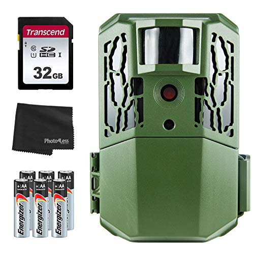 Primos AutoPilot 16MP Low Glow Trail Camera + 32GB SD Card + 8 AA Batteries and Lens Cleaning Cloth