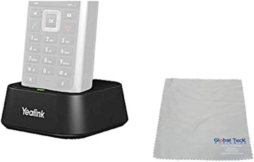 Global Teck Bundle of Yealink W52P DECT SIP Docking Station for Yealink W52P, W52H Cordless Phones (Dock Only)