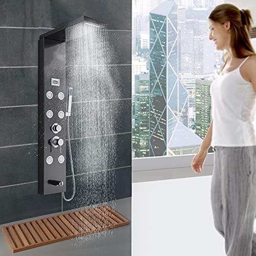 Frifer Multifunctional Shower Screen,Stainless Steel Shower Panel...