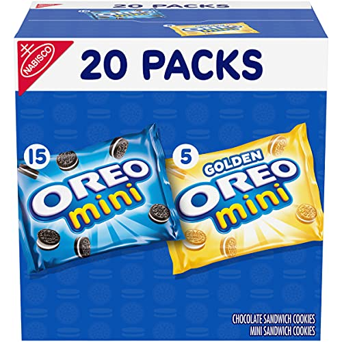 OREO Mini Mix Sandwich Cookies Variety Pack, 20 - 1 oz Snack Packs
