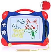 SGILE Magnetic Drawing Board - Lightweight Travel Scribble Painting Pad, Round Edge Magna Doodles
