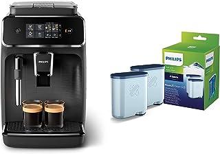 Philips EP2220/10 Machine Espresso automatique Séries 2200 Mousseur à Lait Noir Mat & Filtre à Eau et à calcaire CA6903/22...