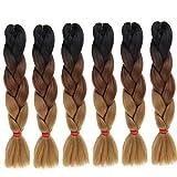 Eunice Hair - Lot de 6 extensions capillaires en cheveux syn