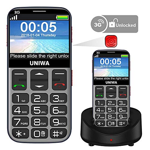 Mosthink Unlocked Cell Phones for Elderly, Unlocked Senior Cell Phone, Easy To Use SOS Basic Phone...