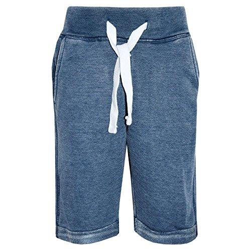 A2Z 4 Kids® Jungen Shorts Kurze Hose Kinder Vlies Blau Chino - Boys Fleece Shorts Blue_9-10