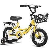 Bicicleta para Niños Infantil Unisex bicicletas niños bicicleta de los niños con las bicis de la muchacha frenadas Marco de Formación de Flash Ruedas de acero de niño for el niño Edad 2-13 años, 3 col