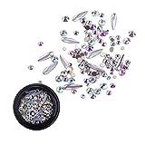 Nail Art Strass Steine Set für Dekorationen, Perlen Glitter Kristalle Nagel Dekoration mit Stück...