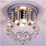 ZEEFO Crystal Chandeliers Light, Mini Style Modern Décor Flush Mount...