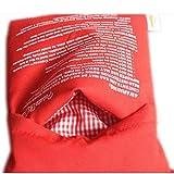 Patata microondas Olla Rojo Bolsa de cocción al Horno Bolsa Reutilizable Lavable Tela Patata Olla para Hornear 25 * 19cm