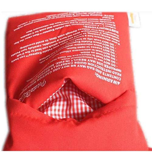 Potato microonde Fornello Red Bag Cottura al forno Sacchetto riutilizzabile lavabile in tessuto Potato Fornello di cottura 25 * 19CM