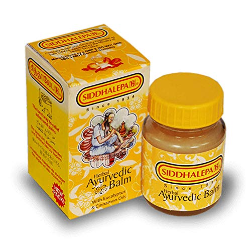 SIDDHALEPA Ayurvedischer Kräuterbalsam gegen Schmerzen, Erkältung bei Grippe, Kopfschmerzen, 100 g