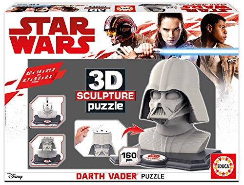 Educa Borrás-Star Wars Darth Vader Puzzle 3D 16500