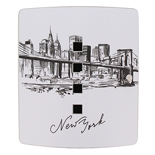 Burg-Wächter 38910 6204/10 Ni Skyline NY Motivschlüsselbox, Schwarz/Edelstahl