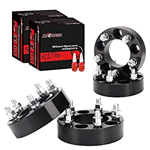 "4PCS 1.25""(31.75mm) Wheel Adapters 5x4.5 to 5x5 for Jeep JK WK WJ XK Wheels on Jeep XJ KJ ZJ KK TJ YJ, 5x114.3mm to 5x127mm Forged Wheel Spacers with 1/2""-20 Studs, Changed Bolts Pattern Adapter"