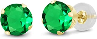 Best emerald earrings gold Reviews