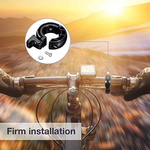 SGODDE Fahrradklingel,O Design Fahrradglocke Laut, Mini Aluminiumlegierung Innovative Fahrrad Ring Q Bell Radfahren Fahrrad Klingel Glocke MTB Mountainbike Alarm Horn Ring, für 22.2-24mm Lenker - 5