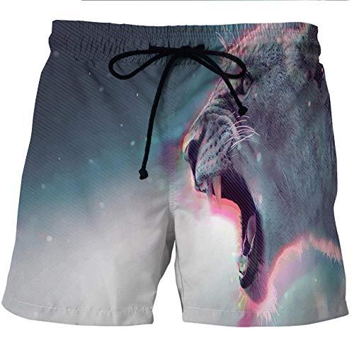 CHWEI Gebreid Hat Boardshorts Zwembroek mannen vrouwen 3D bedrukt Tijger Summer Beach Shorts Snel Droog Strandbroek Outdoor Vrijetijdszwembroek Elastische Taille Board Surfbroek