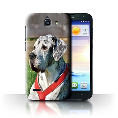 Hülle Für Huawei Ascend G730 H&/Eckzahn Rassen Deutsche Dogge/Great Dane Design Transparent Ultra Dünn Klar Hart Schutz Handyhülle Case