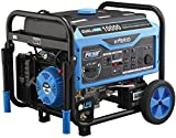 Pulsar PG10000B16 Portable Dual Fuel Generator-8000 Rated 10000 Peak Watts-Gas & LPG Electric Start-Switch-&-Go Build in, RV Ready-CARB Compliant, 10, 000W, Black