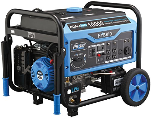 Pulsar Non-CARB 10,000W Dual Fuel Switch & Go Technology & Electric Start Portable Generator