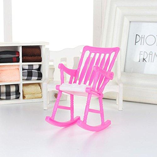 Gemini_mall Miniatur-Puppenhausmöbel aus Kunststoff, Schaukelstuhl für Barbie-Puppen für Mädchen, Spielzeug, Geschenk