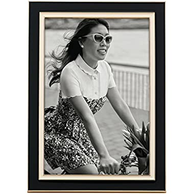 kate spade new york Portland Place Black and Cream Enamel and Metal 4  x 6  Frame by Lenox