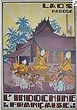 Unbekannt Poster Laos Pagode indochine französisches