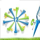 Sistema de Riego Automático por Goteo,12 Pcs Riego por Goteo Automático Kit,Riego por Ggoteo Sistema de Irrigación para Bonsáis y Flores, Ideal Dispositivo de Irrigación Automático en Vacaciones