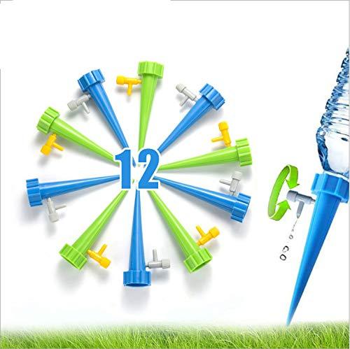 DOUYAO 12Pcs Irrigation Goutte à Goutte Kit,Arrosage Plantes Automatique, Automatiques avec Vannes Système D'Irrigation Goutte-à-Goutte
