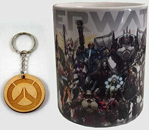 Taza y llavero Overwatch